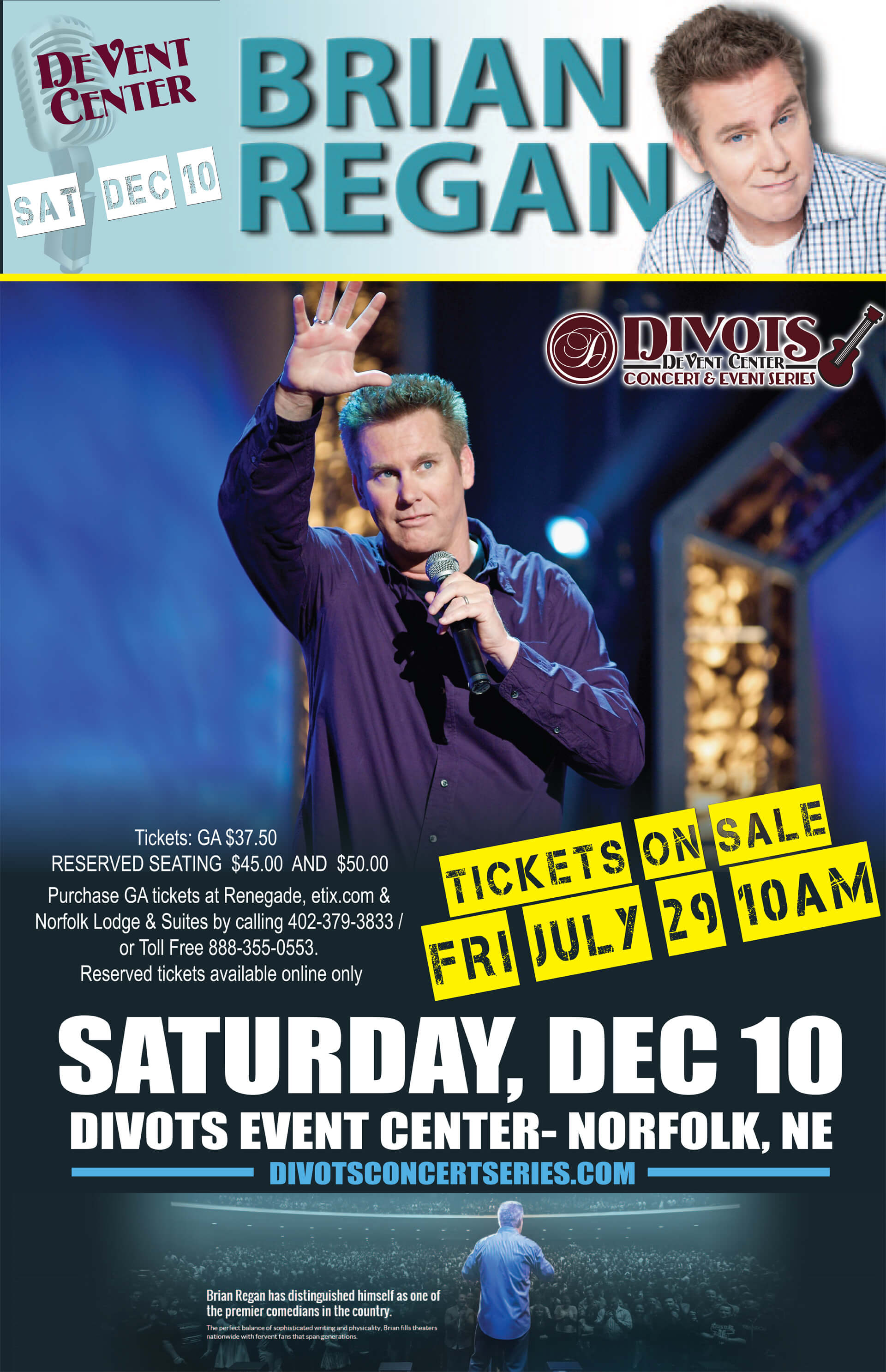 Live Comedy Concert featuring Brian Regan at 